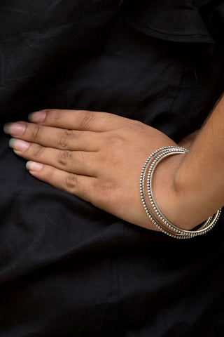 Silver Ethnic Bangles Size 2-6