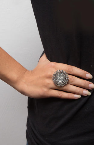 Antique Victorian Silver Rings - Adjustable