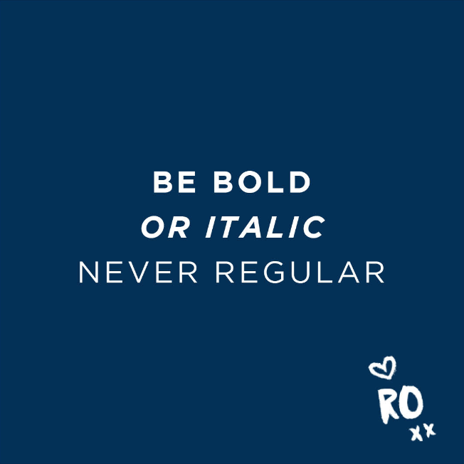 QUOTE // Be Bold...