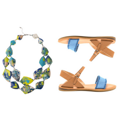 SHOESDAY // Blue (sandals) crush