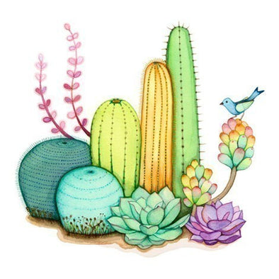RO Love // Cactus Watercolours By Afsaneh Tajvidi