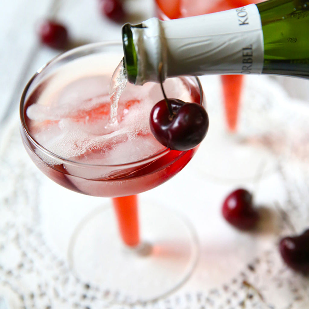 CHEERS // Cherry Mimosa Recipe