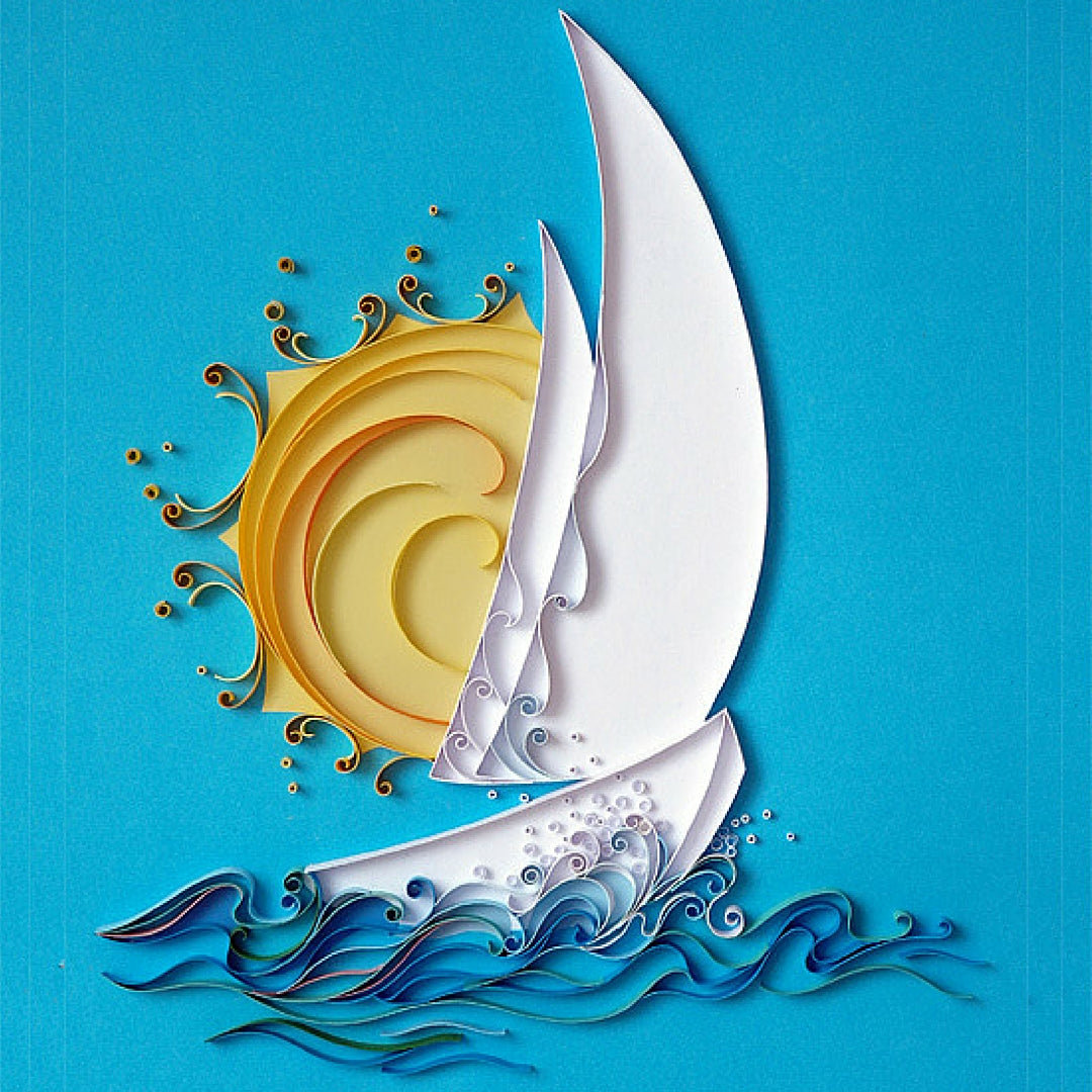 Paper Crafts Quilling Boat