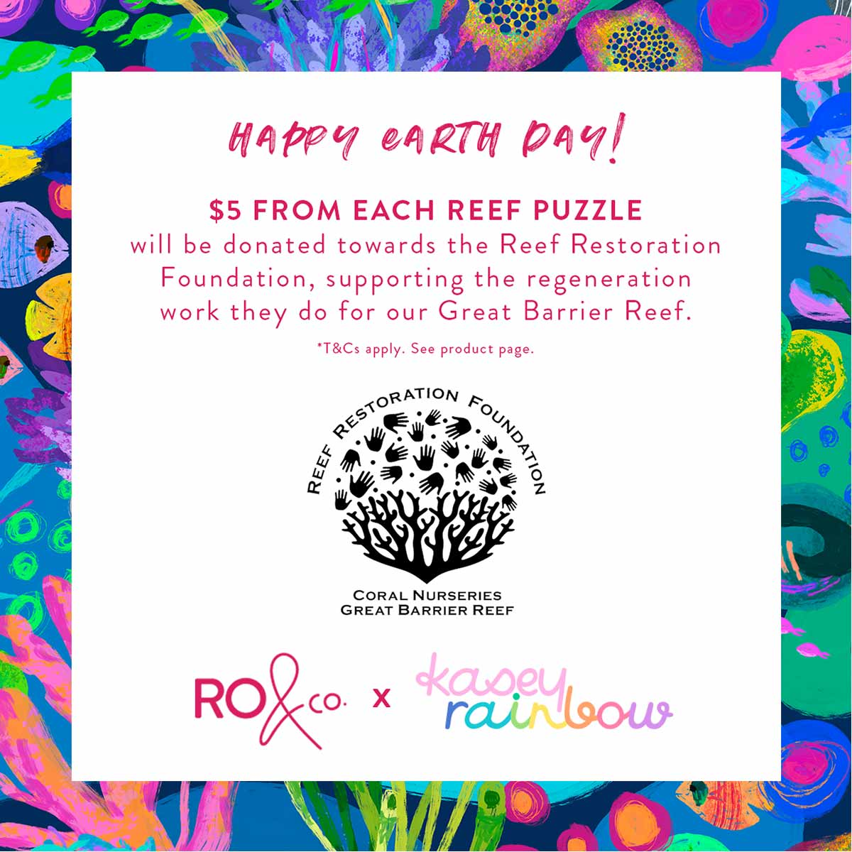 Kasey Rainbow x RO Reef Puzzle for Earth Day
