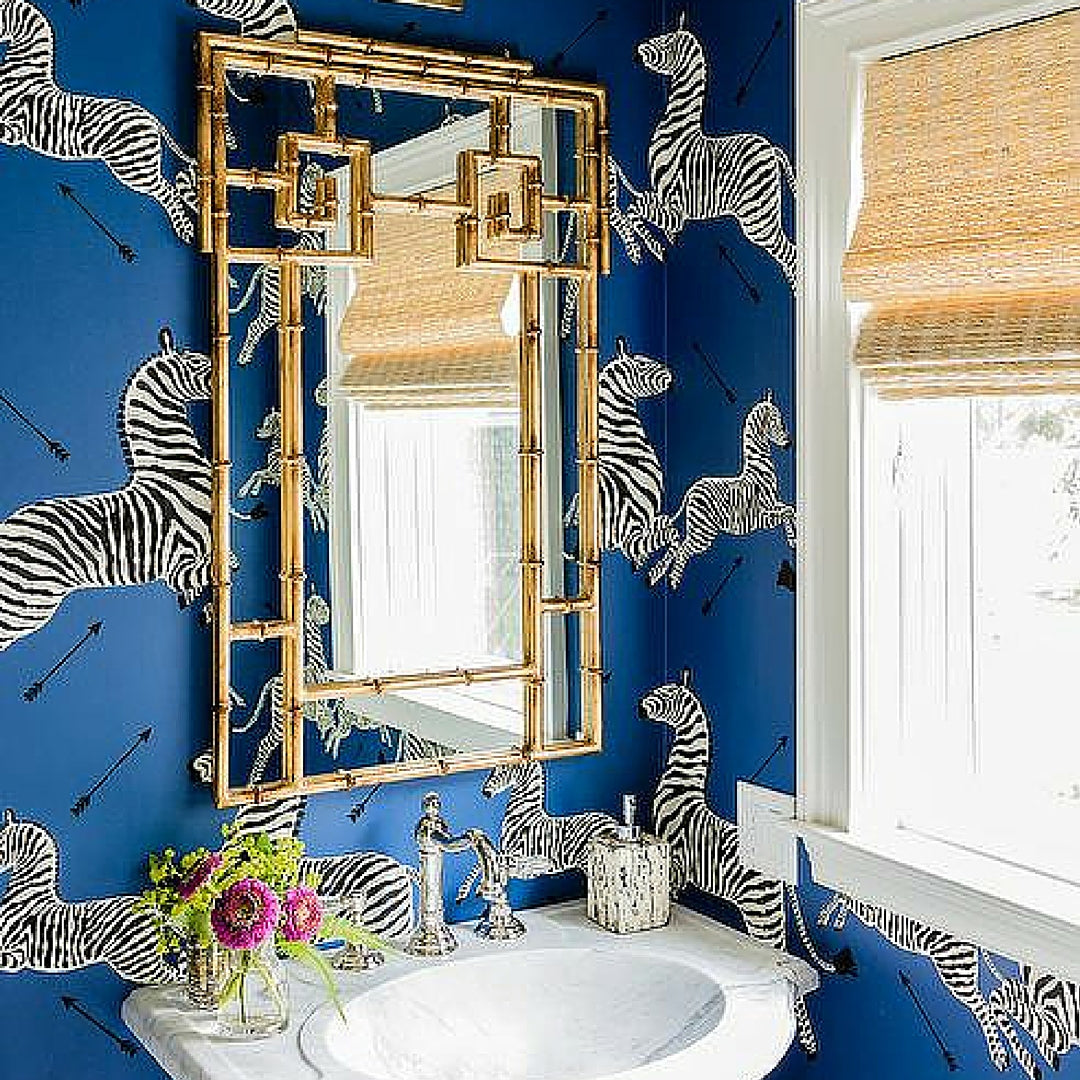 Interior Design Trend Blue Wallpaper With Zebra