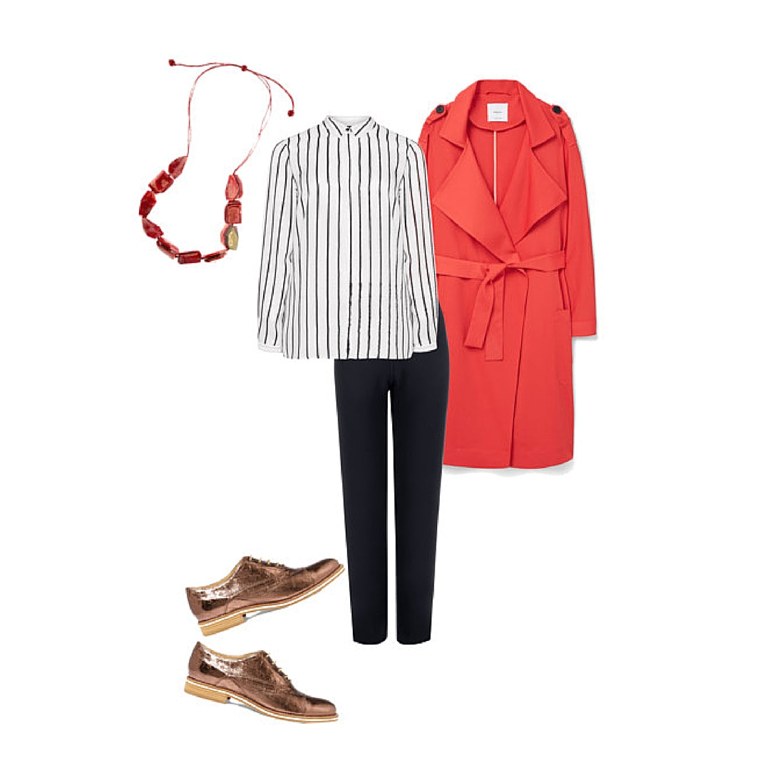 Womens Style Fashion Red Trench Coat