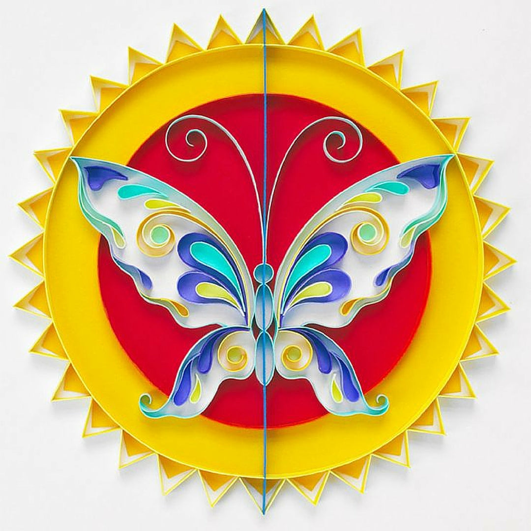 Paper Crafts Quilling Sun Butterfly