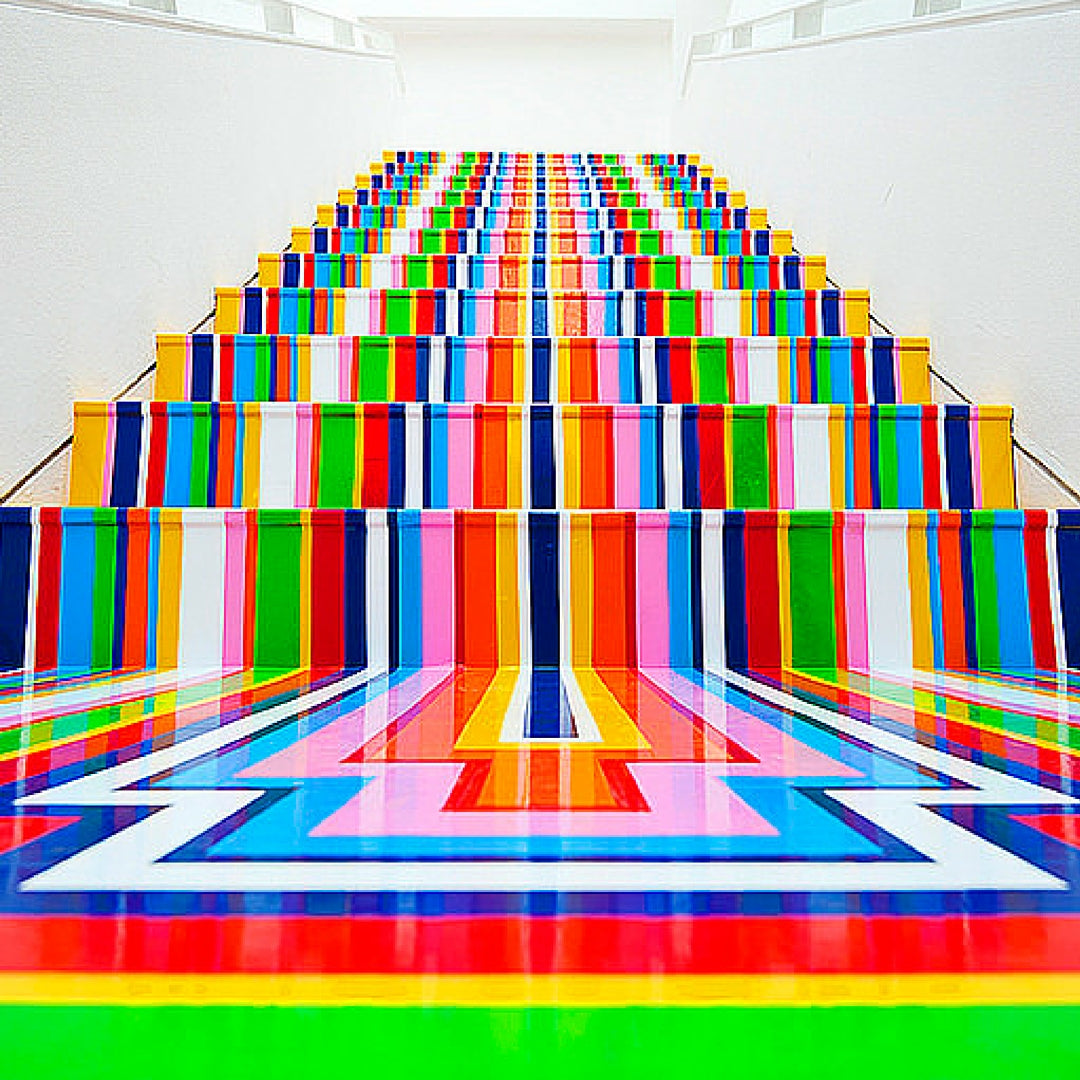 Jim Lambie Stairs Colourful Art