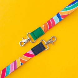 RO x Lordy Dordie Rainbow Lanyard (2 Colours With Safety Clasp Option)