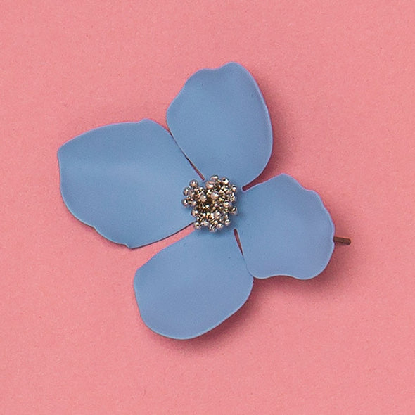 Light Blue Bloom Floral Studs Ruby Olive
