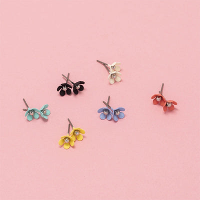 Mini Bloom Studs Ruby Olive Jewellery