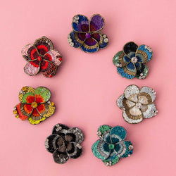 Delicates Patty Pansy Brooch (7 Colours Avail)