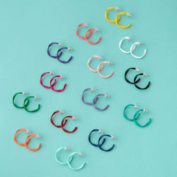Everyday Twisted Mini Hoop Earrings (14 Colours Avail)