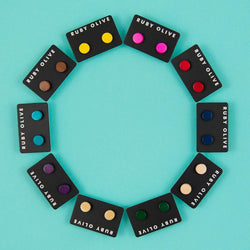 Everyday Wood Stud Earrings (10 Colours Avail)
