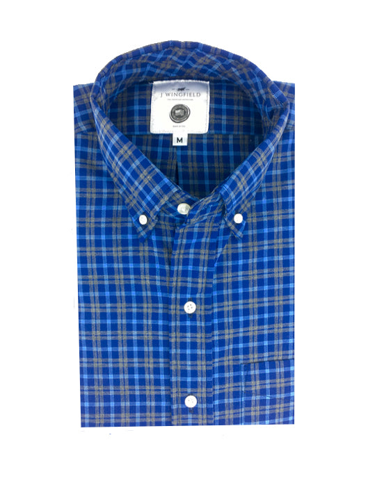 Jefferson Cobalt Button Down