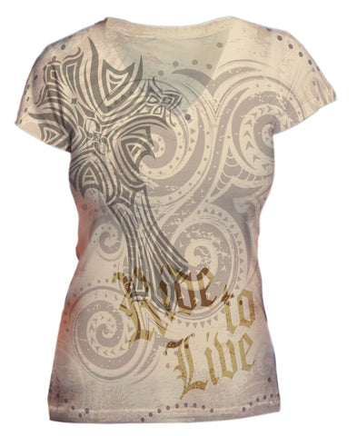 Cross Ride to Live Vneck