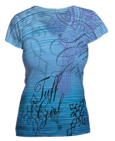 Blue Tuff Girl Graphic Vneck