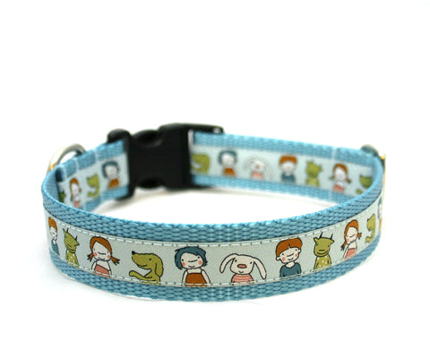 "1"" Dogs with Friends Dog Collar"