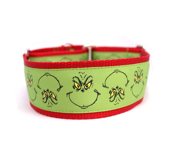"2"" He's A Mean One Dog Collar"