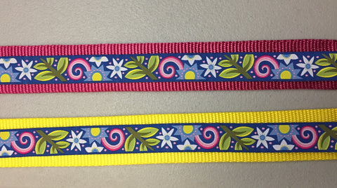 "1.5"" Hippie Chick Dog Collar"