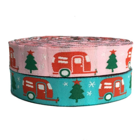 "3/4"" Christmas Campers Dog Collar"