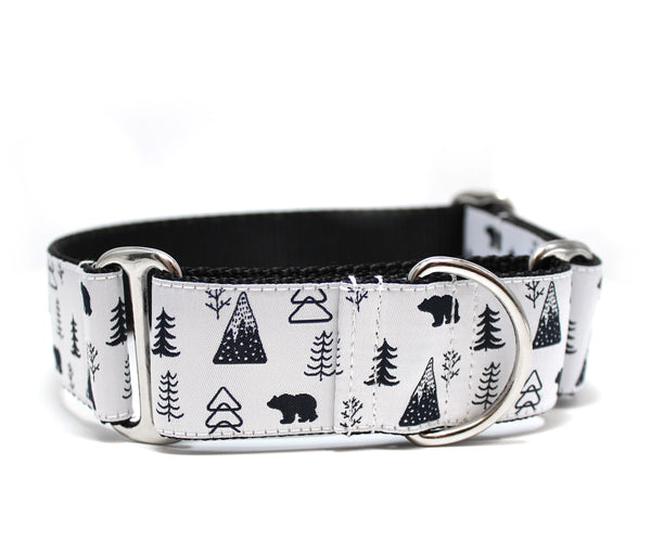 "1.5"" Winter in the Mountains Dog Collar"