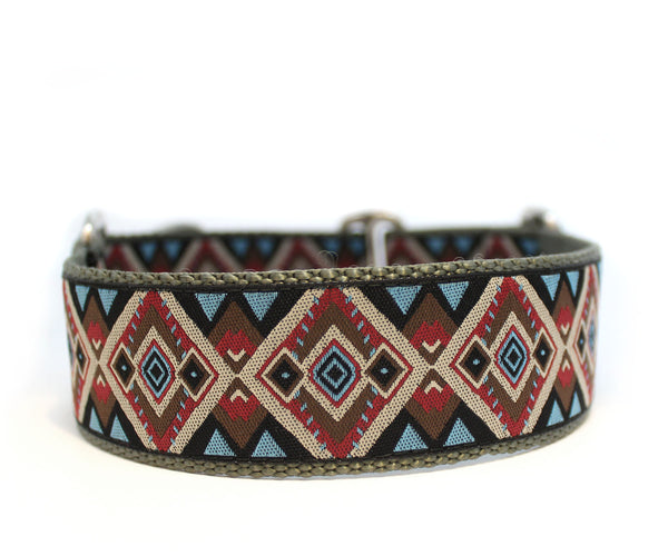 "1.5"" Aztec Purple Dog Collar"