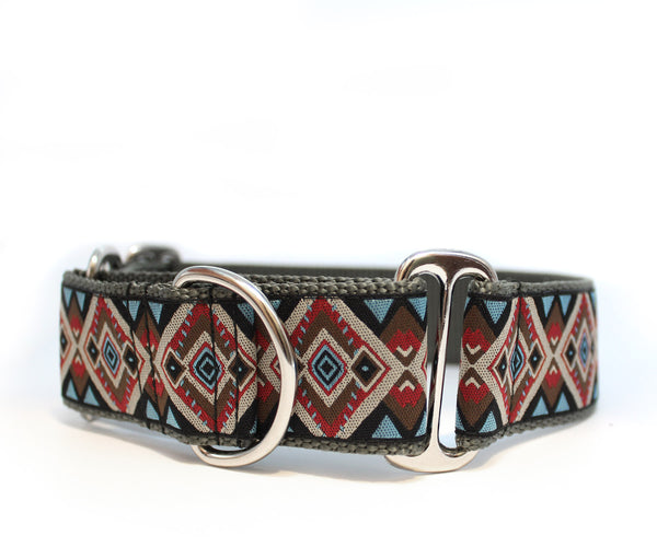 "1.5"" Aztec Brown Dog Collar"