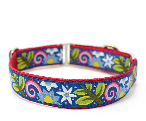 "1"" Hippie Chick Dog Collar"