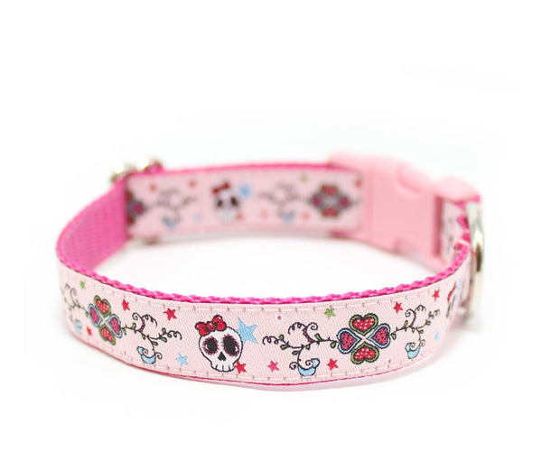 "3/4"" Candy Skull Dog Collar"