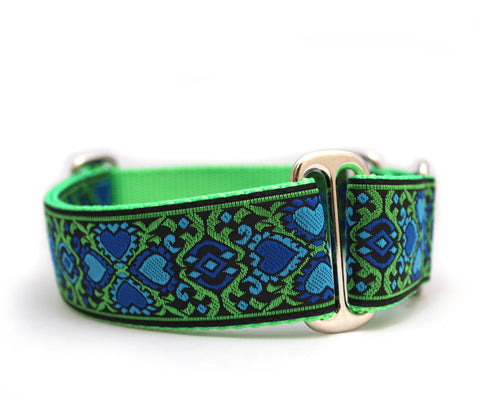 "1"" Courtly Love Dog Collar"