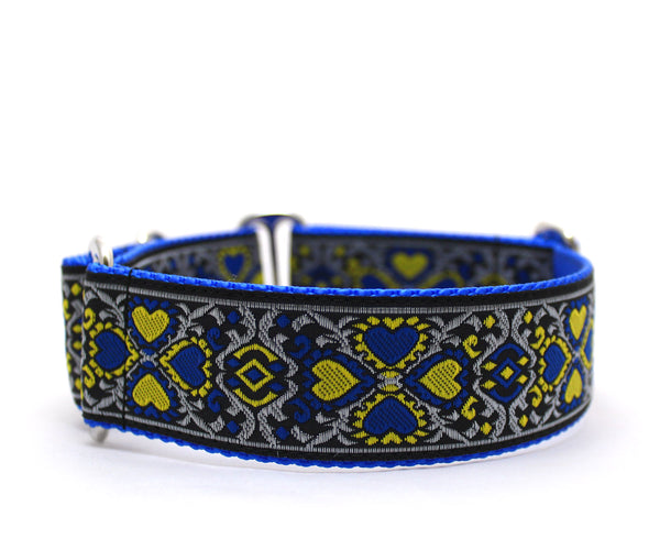 "1.5"" Courtly Love Dog Collar"