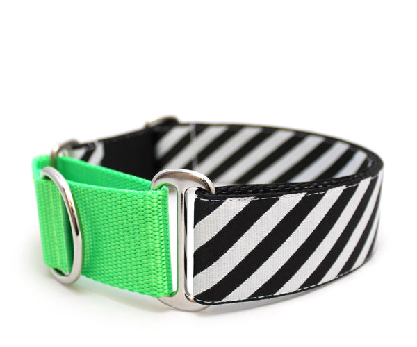 "1.5"" Dad's Striped Tie Dog Collar"