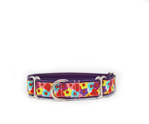 "1"" Flower Child Dog Collar"