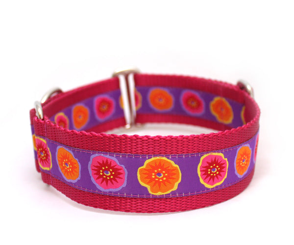 "1.5"" Poppin' Poppies Dog Collar"
