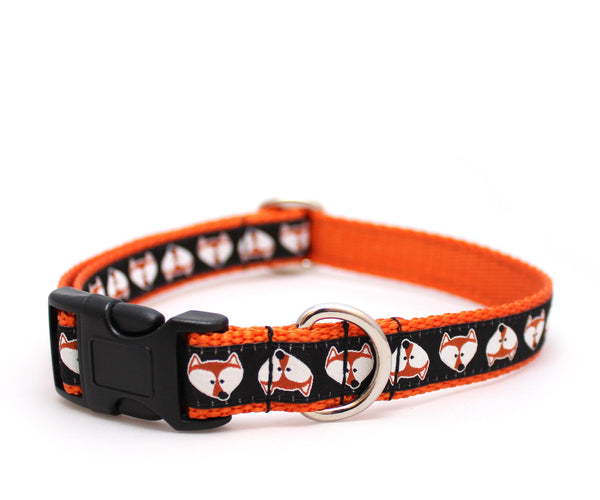 "3/4"" Fox Face Dog Collar"