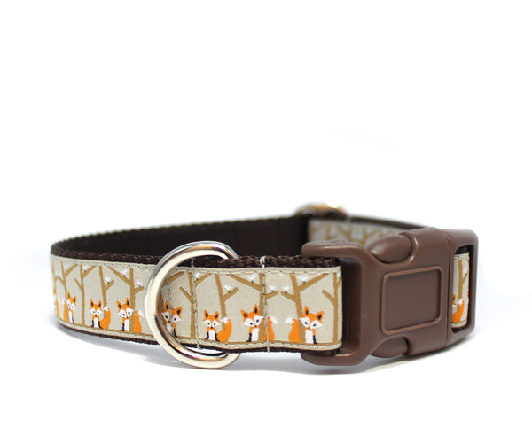 "1"" Fox in the Woods Dog Collar"