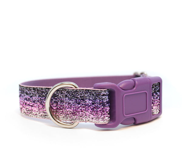 "1"" Purple Ombré Glitter Dog Collar"