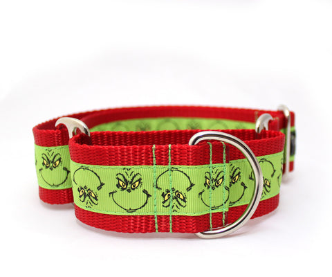 "1.5"" He's a Mean One Dog Collar"