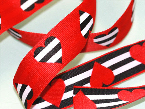 "1.5"" Queen of Hearts ♥ Dog Collar"