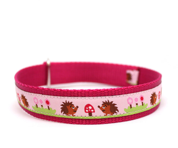 "1"" Hedgehog Picnic Dog Collar"