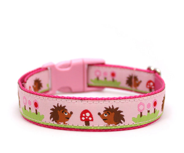 "3/4"" Hedgehog Picnic Dog Collar"