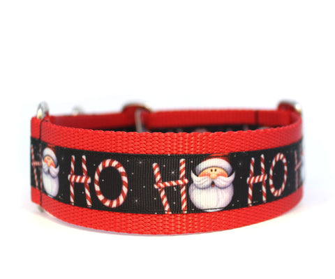 "1.5"" Ho Ho Santa Dog Collar"