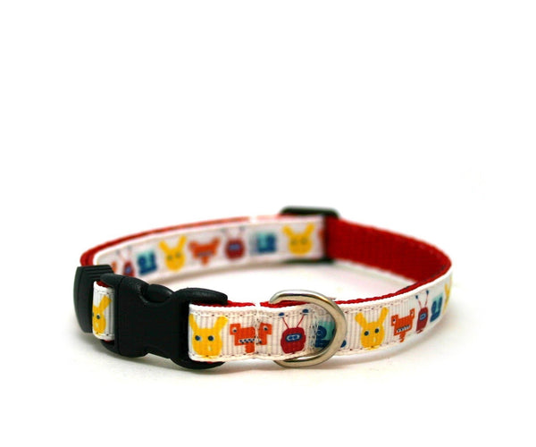 "3/8"" dog collar Mr. Robot buckle dog or cat collar"