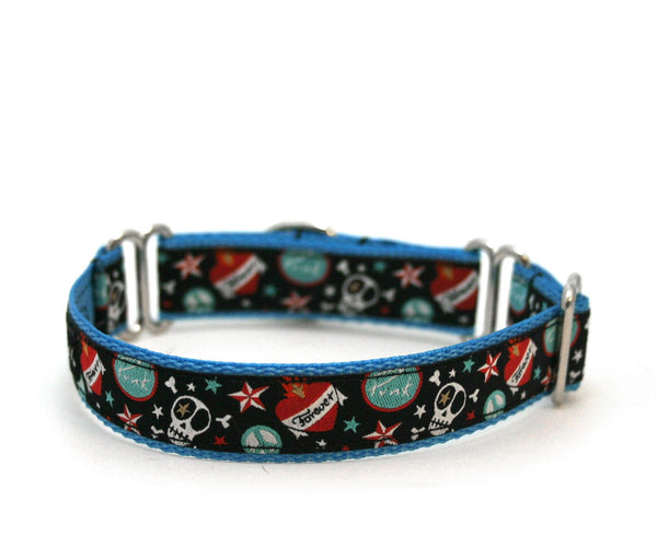 "3/4"" K9 Inked martingale dog collar"