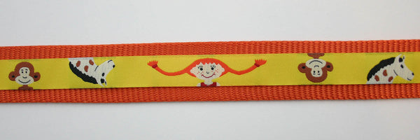 "1"" Pippi Longstocking Dog Collar"