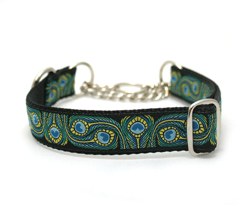 "1"" Royal Peacock Dog Collar"