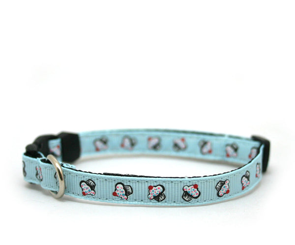 "3/8"" Cat Collar Hello Cupcake toy dog or puppy buckle collar"
