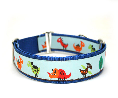 "1.5"" Dino Land Dog Collar"