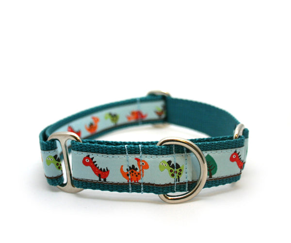 "1"" Dino Land Dog Collar"